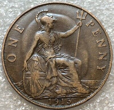 1915 Great Britain Bronze One Penny