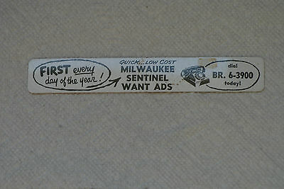 Old Vintage Milwaukee Sentinel Want Ads Newspaper Advertising Ruler Wisconsin