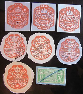 Gb Revenue Stamps Used.
