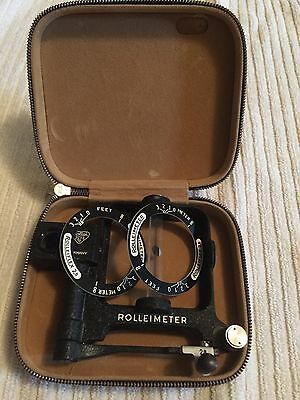 ROLLEIFLEX ROLLEIMETER 2.8 Viewfinder With Leather Zip Case, ALL MINT.