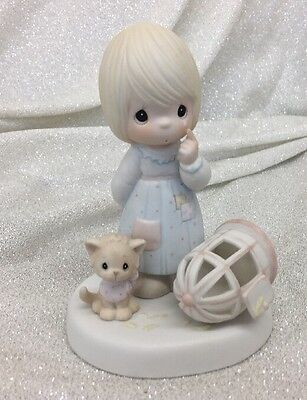 """""""The Lord Giveth & The Lord Taketh Away"""" Precious Moments 1987 Figurine"""