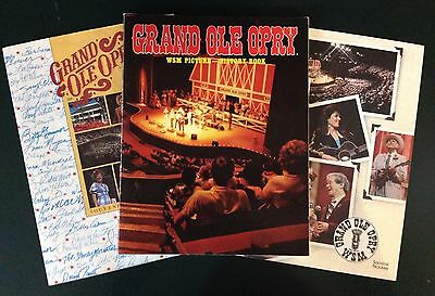 Vintage 1984 Grand Ole Opry WSM Picture-History Book, Soft Cover + 2 Programs