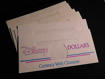 Collection Of Disney Dollar Envelopes   (6) (Unc) #1