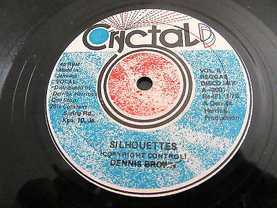 """Dennis Brown """"silhouettes"""" / """"how Could I Let You Get Away"""" Rare 12"""""""