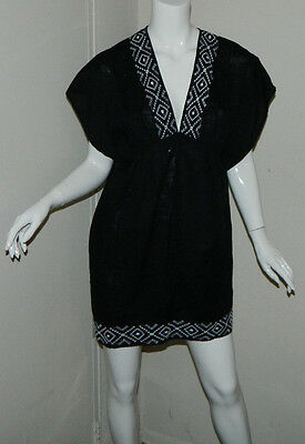 Women Old Navy Maternity Multi-Color Black White Swimwear Cover-Up Dress  Size S
