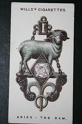 Aries   Zodiac Sign  Vintage Charm Card ## VGC