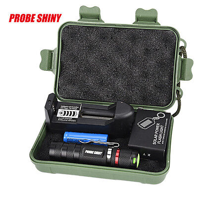 G700 Zoomable CREE XML Q5 LED Tactical Flashlight+14500 Battery+Charger+Case UK