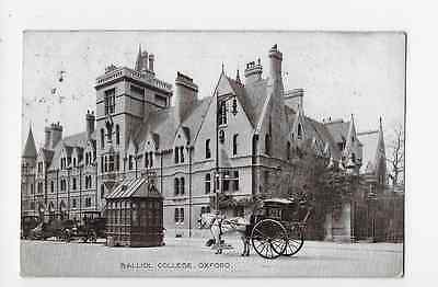 Printed Postcard Balliol College Oxford Hansom Cab Motor Taxis Cab Office 1918