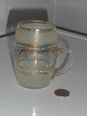 Small Vintage Souvenir Glass Tankard From Windermere