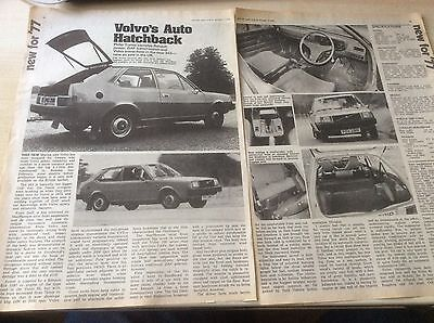 VOLVO 343    LAUNCH ARTICLE 1976  ~Vol34301