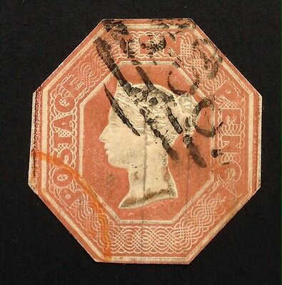 GB Queen Victoria 10d Embossed Cut To Shape SG 57.(cat £1500)