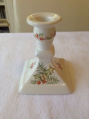 Vintage Royal Winton Christmas Candlestick. Holly & Berries