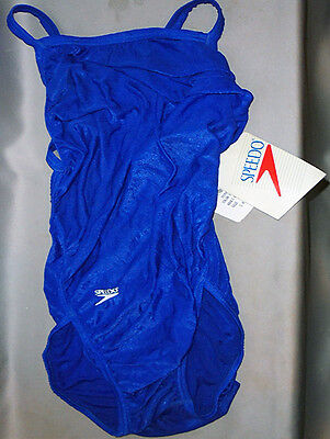 -NWT- Vintage -Speedo- Women's Blue Bathing Suit/Swimsuit - Size 9/10-34 - NOS