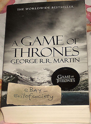 george r.r. martin, book 1, game of thrones, fantasy, 1 book, vgc