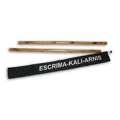 2 Filipino Escrima Kali Arnis burned Rattan Stick Doce Pares Taekwondo karate