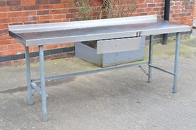 Large Stainless Steel Catering Prep Table With Drawer