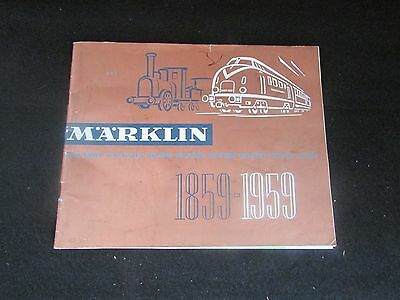 1859-1959 Marklin Model Train Catalog 100 year Anniversary Illustrated Prices