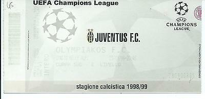 Biglietto stadio tickets calcio Juventus-Olympiakos Champions League 1998/99