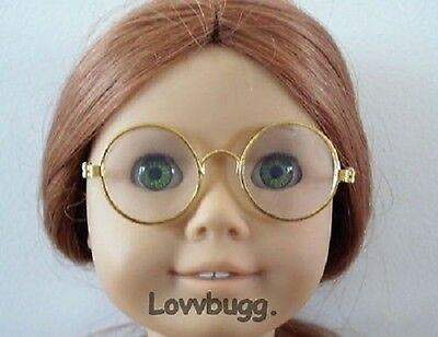 "Gold Wire Frame Eye glasses for 18"" American Girl  Doll Accessories Specialist!"