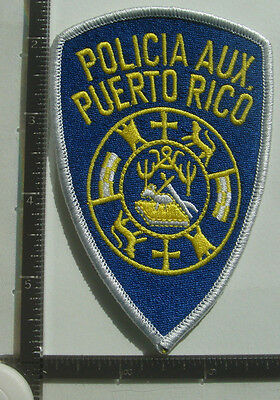 PUERTO RICO Aux. POLICE Patch P.R.  POLICIA Auxilliary