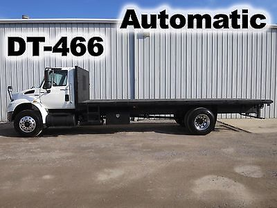 4400 Dt466 Automatic  24Ft Flat Bed Body Delivery Haul Truck Pto-Gear 33-K Gvwr