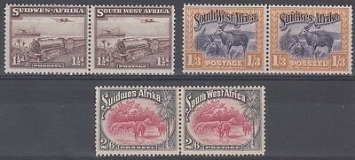 South West Africa Scott 110, 116, 117 Mint hinged (Catalog Value $65.50)