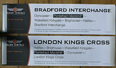 Grand Central Railway window labels, West Riding services (pair)