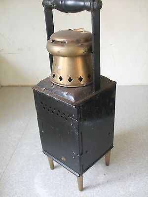 Antique Industrial / Railway ? Inspection Wick Lamp - Sits 4 Feet- Brass Fitting