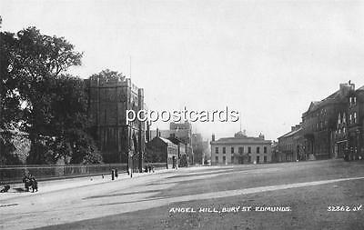 Angel Hill - Bury St Edmunds - Old Offards Real Photo Postcard