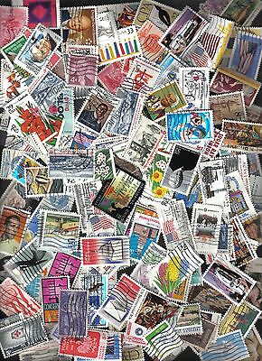 500+ United States Commemorative Stamps, Used, Off Paper (Mix #7)