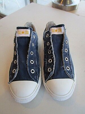Converse All Star Classic Dark Blue No Lace Slip On Sneakers Size Youth 3