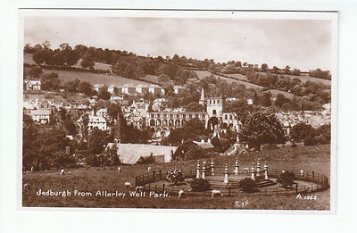 Jedburgh From Allerley Well Park Roxburgh 1934 Real Photograph Valentines A1362