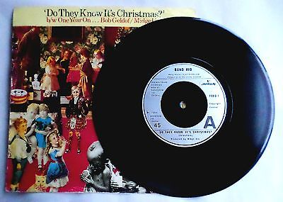 "Band Aid. Do They Know It's Christmas?. Mercury 1985 Re-Issue. 7"" Vinyl."