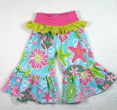 Mud Pie Baby ~ Girl's 9-12 Mo. Ruffle Pants