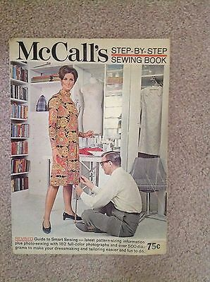 Vintage 1960s McCall's Step by Step learn to sew Sewing Softcover Book 160 pages