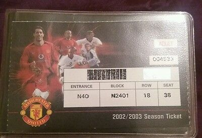 Manchester United Season Ticket Book Season 2003/04 With Spare Vouchers