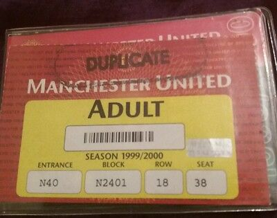 Manchester United Season Ticket Book Season 1999/2000. With Spare Vouchers