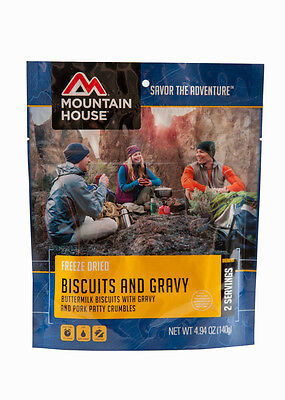 Mountain House Biscuits and Gravy 3 Pouches 2 servings ea