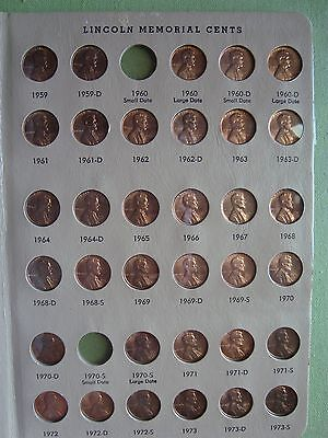 Uncirculated Mix Of Lincoln Memorial Pennies On 2 Dansco Pages 1959-1977