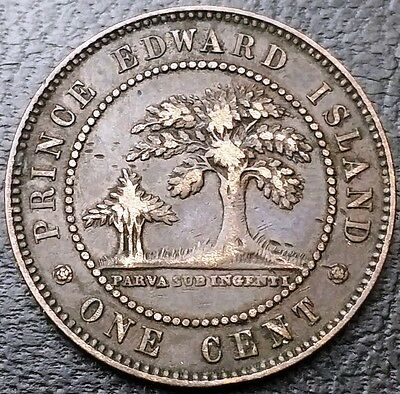 1871 Prince Edward Island PEI Canada Large Cent 1 Penny Coin,  Free Combined S/H