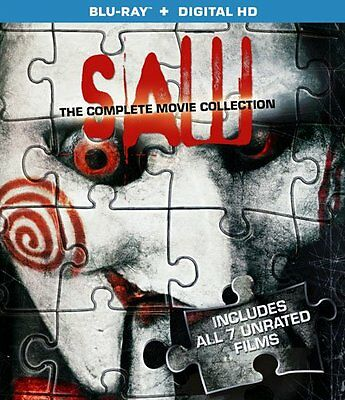 Saw: The Complete Movie Collection [Blu-ray Set, Region A, 7-Films, 3-Disc] NEW