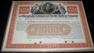 Chicago, Rock Island & Pacific Railway Company - Stock Certificate - $1000