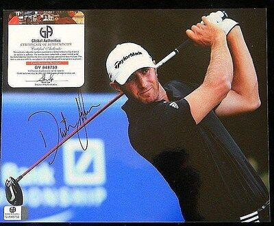 DUSTIN JOHNSON AUTO  SIGNED 8X10 GLOSSY World Number # 1 AUTHENTIC GV848759