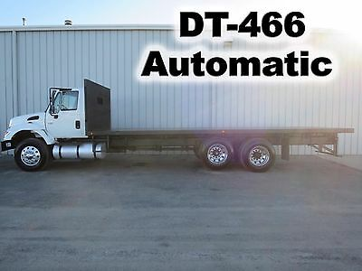 Dt-466 Automatic 26Ft Flatbed Tandem Lift Axle Haul Delivery Work Truck Low Mi.