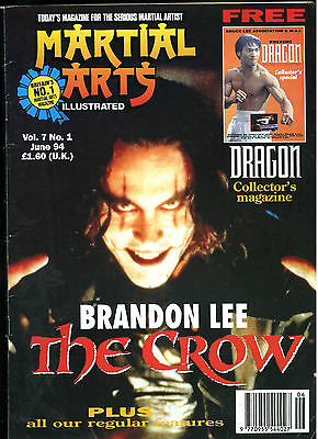 Rare Early 90s BRANDON LEE Crow cover MARTIAL ARTS Illustrated UK Magazine Bruce