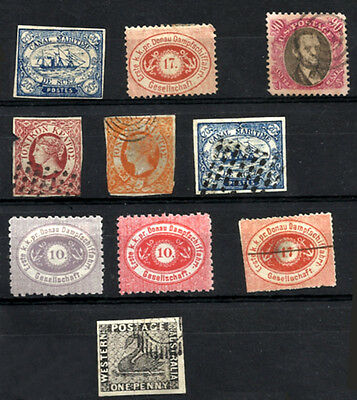 FORGERY 10 different stamps