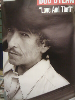 "24""X36"" Bob Dylan Love and Theft Catalog Promo  Poster near mint 2 sided"