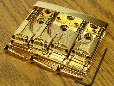 NEW Schaller High Mass 4 String Bass BRIDGE Gold Adjustable w/ Rollers Badass