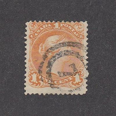 CANADA LOT # 23 1ct LARGE QUEEN WITH # 7 IN RINGED CANCEL