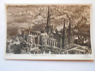 Vintage Postcard  R.P. Lichfield Cathedral From The Air Aero Pictorial  Unused.